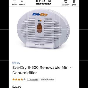 New Eva-Dry E-500 Mini Dehumidifier
